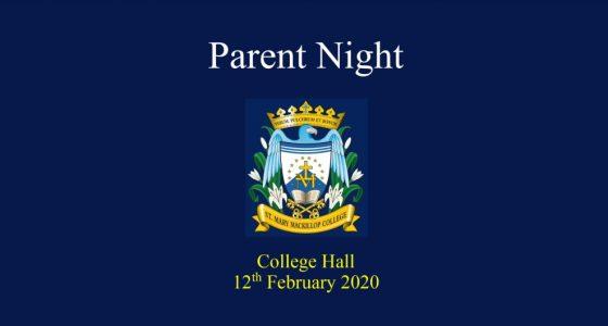 First Parent Night of 2020